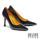 高跟鞋 HELENE SPARK 華麗閃耀金蔥全真皮尖頭美型高跟鞋-黑