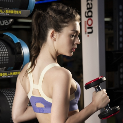 華歌爾 專業運動系列 DM-D3L罩杯穩定運動內衣(堇花藍) 絲棉連模罩杯 舒適美型