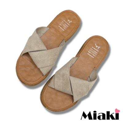 Miaki-拖鞋夏季韓風亮色軟底涼鞋-杏