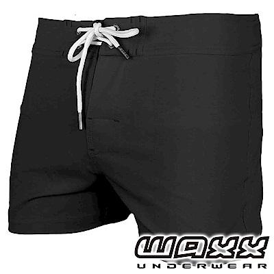 WAXX 衝浪系列-黑色風暴快乾型男海灘褲(13英吋)