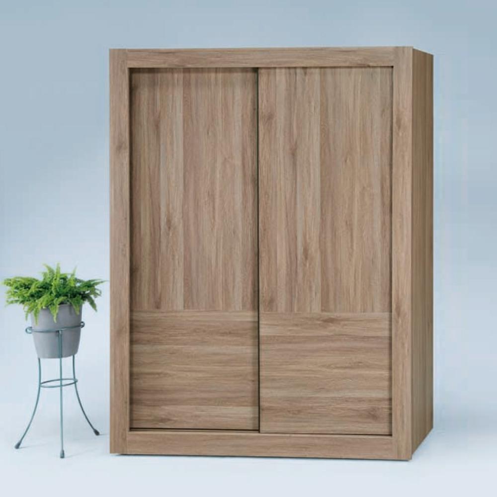 Bernice-原燒梧桐5×7尺拉門衣櫥-150x58.8x202.5cm