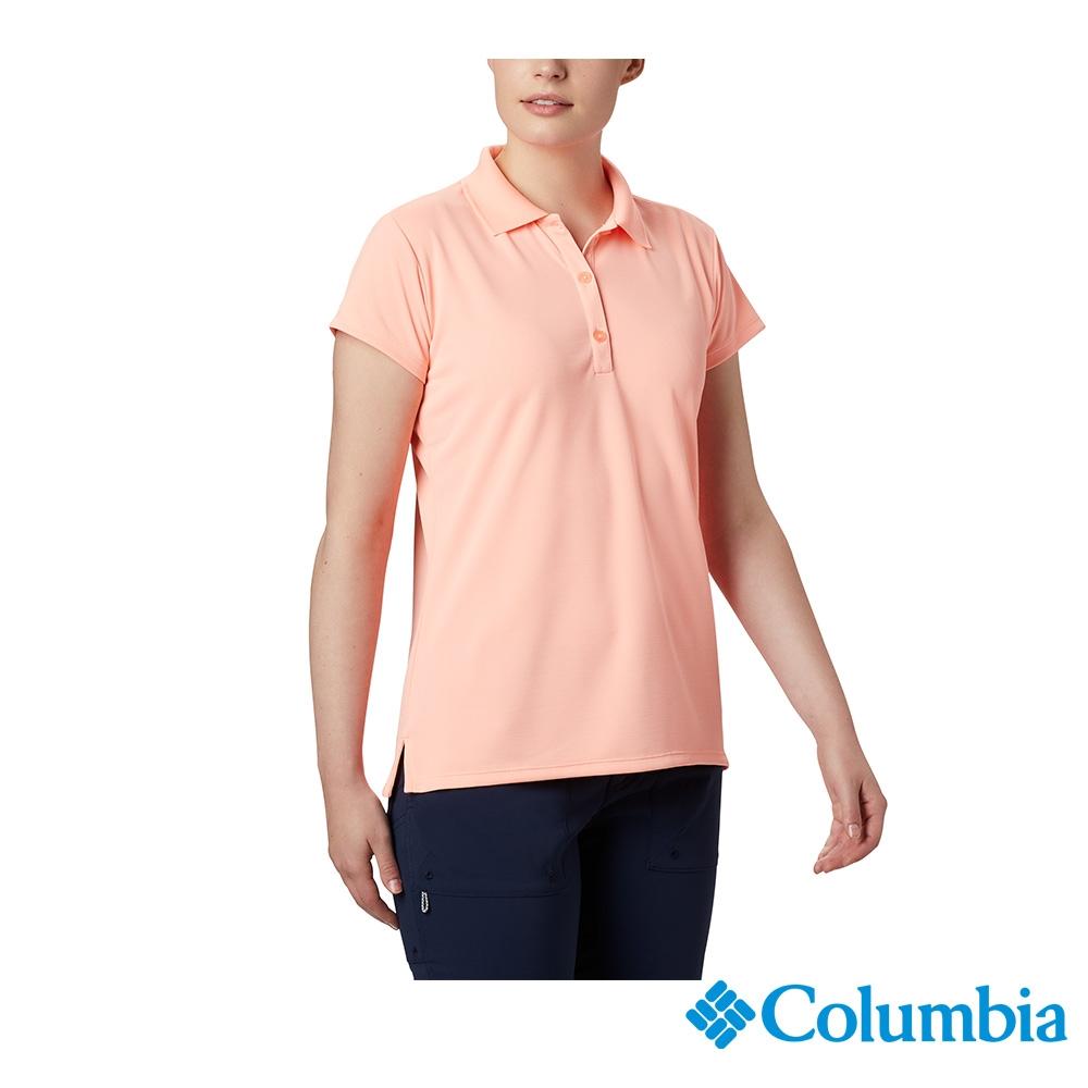 Columbia 哥倫比亞 男女款- UPF50快排短袖Polo衫-6色 活動款 (女款-粉紅)