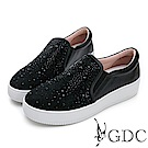 GDC-麂皮漫天星璀璨舒適休閒鞋-黑色