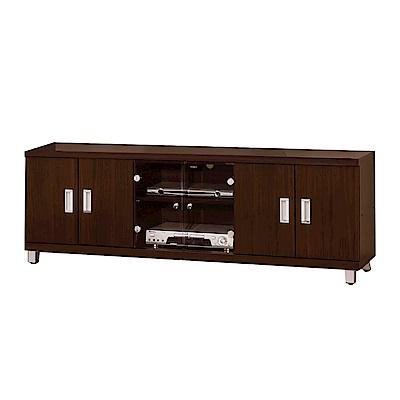 綠活居 舒莉時尚5.4尺六門電視櫃/視聽櫃-162x45x51cm-免組