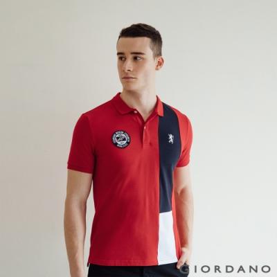 GIORDANO  男裝UNION JACK POLO衫 - 18 高貴紅