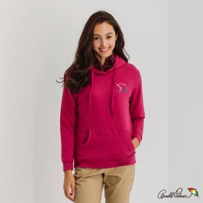 Arnold Palmer -女裝-胸前大傘連帽T恤-桃紅色