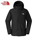 The North Face北面男款黑色防水透氣衝鋒衣|2UBLJK3