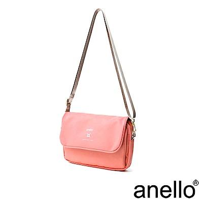 anello 實用高機能性防潑水斜背包 珊瑚粉