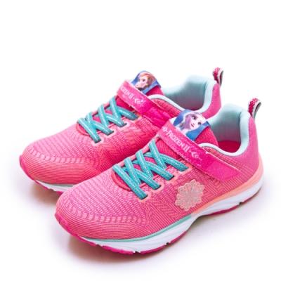 Disney 迪士尼 冰雪奇緣 FROZEN 輕量兒童慢跑鞋 粉紅橘 94233