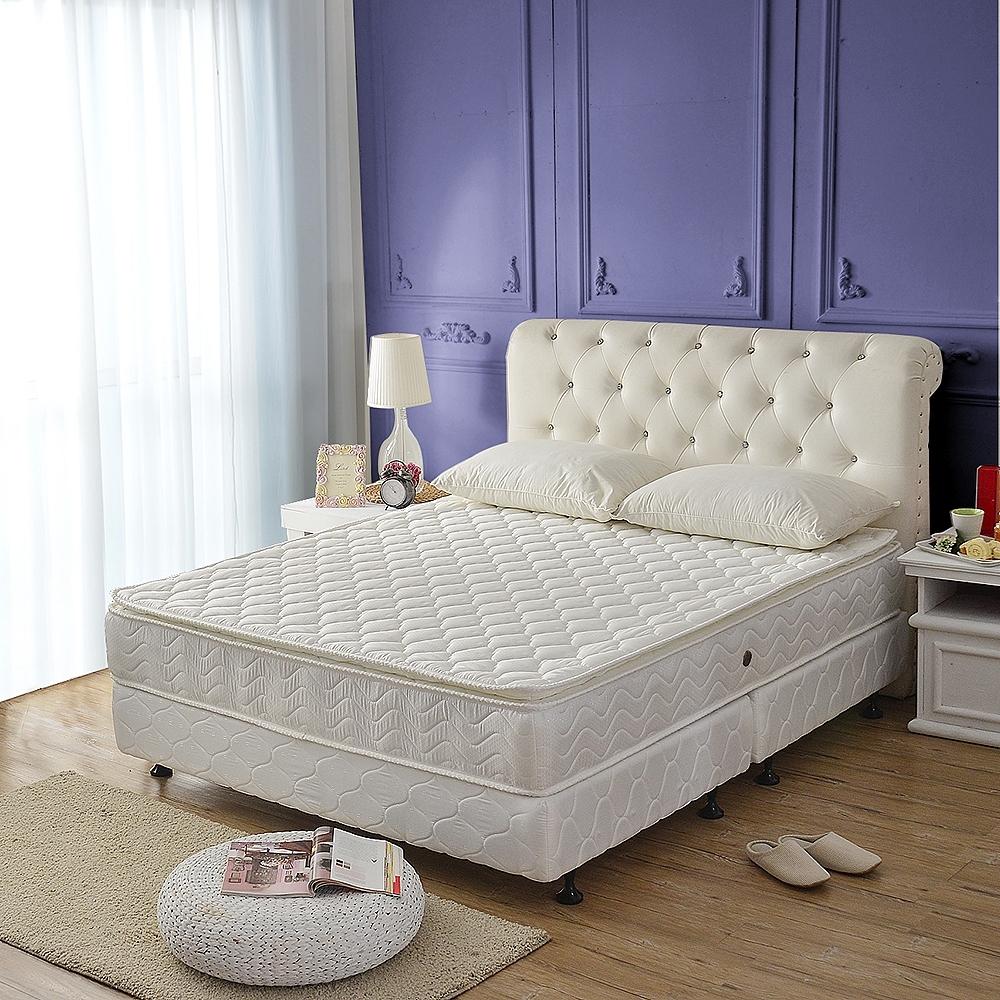 雙人加大6尺 真三線高澎度+3M防潑水+護腰型蜂巢式獨立筒床墊-正反可睡 (Ally)