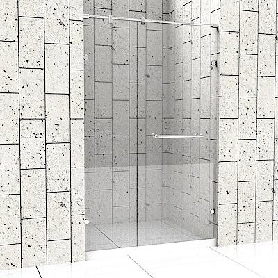 一太 一字型無框淋浴拉門-皇冠5024系列(寬151-180cm x 高200cm)