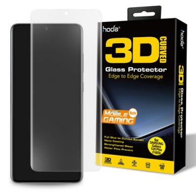 hoda Samsung Galaxy S20+ / S20 Plus 手遊專用3D防爆霧面玻璃保護貼(UV膠全貼合內縮滿版)