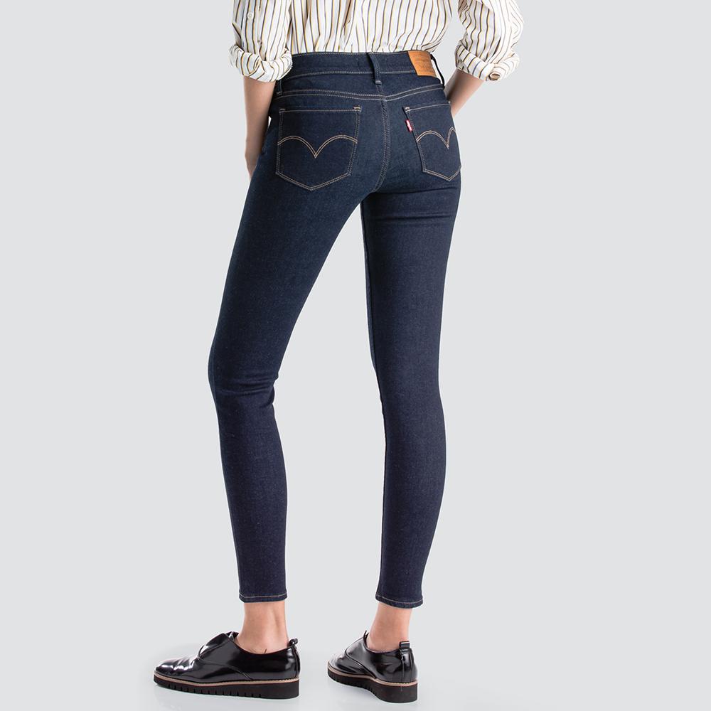 Levis 女款 710 中腰超緊身 超彈力牛仔褲 原色基本款