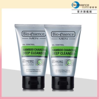 (買1送1)Bio-essence碧歐斯 男仕竹炭控油深層潔面霜100g