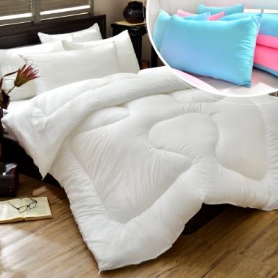 (一被一枕超值組)台灣製高彈力超細纖維透氣冬被 台灣製3M吸濕排汗專利透氣枕x1