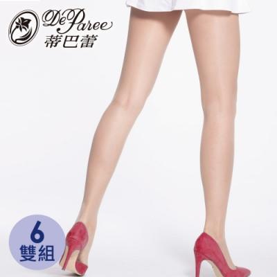 [超值包] 蒂巴蕾Spoil 紅酒多氛彈性絲襪 6雙組