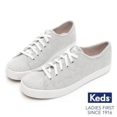 Keds KICKSTART 美式線條織紋休閒鞋-灰