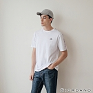 GIORDANO 男裝G-MOTION拼接織帶撞色短袖T恤 -01 標誌白