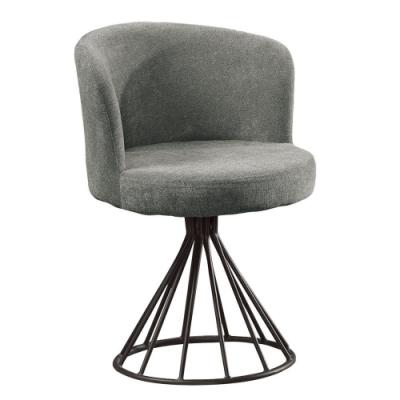 MUNA 棕櫚灰色布旋轉布餐椅/休閒椅 54X46X75cm