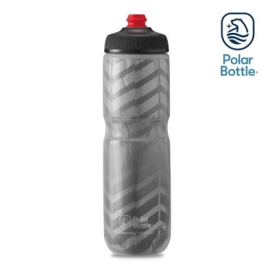 【Polar Bottle】24oz 雙層保冷噴射水壺 BOLT 灰-銀