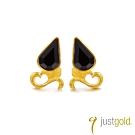 鎮金店Just Gold The Queen女皇純金系列-新款黃金耳環