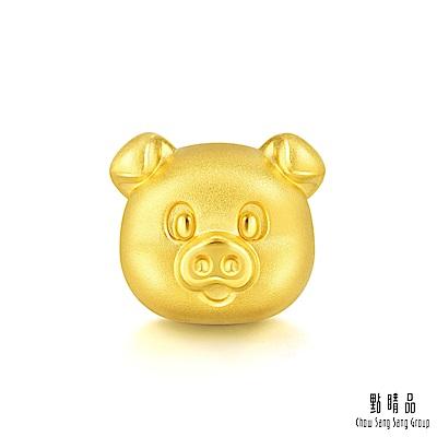 點睛品 Charme 幸福萌豬 黃金串珠