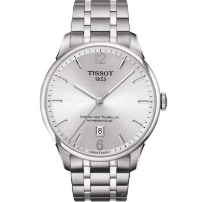 TISSOT 杜魯爾 80小時動力儲存機械錶(T0994071103700)42mm