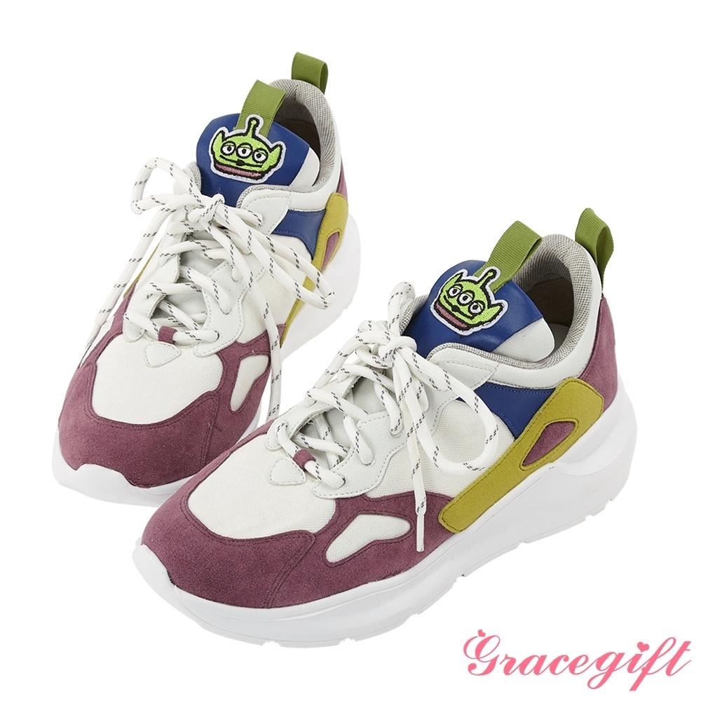 Disney collection by gracegift玩具總動員潮流老爹鞋 紫