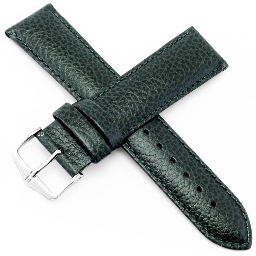海奕施 HIRSCH Kansas L小牛皮手錶帶-綠
