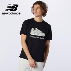 [New Balance]藝術家短袖上衣_男性_黑色_MT13555BK