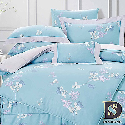 DESMOND 雙人60支天絲八件式床罩組 茜茜花語-綠 100%TENCEL