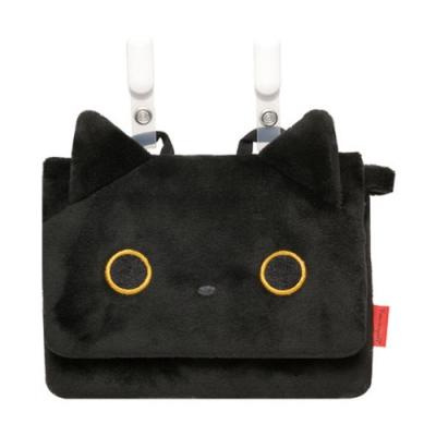 家族毛絨可掛式收納包。小襪貓San-X