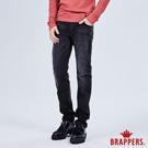 BRAPPERS  男款 HM-中腰系列-彈性中腰直筒褲-黑