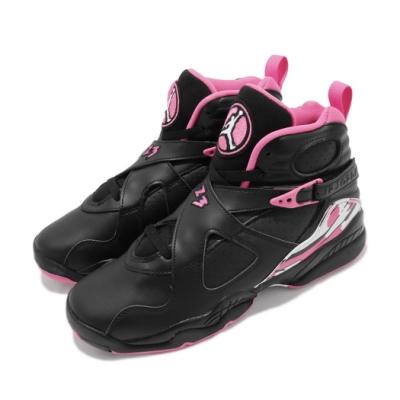 Nike 籃球鞋 Air Jordan 8代 GS 大童鞋 Pinksicle 女鞋 AJ8 高筒 580528006