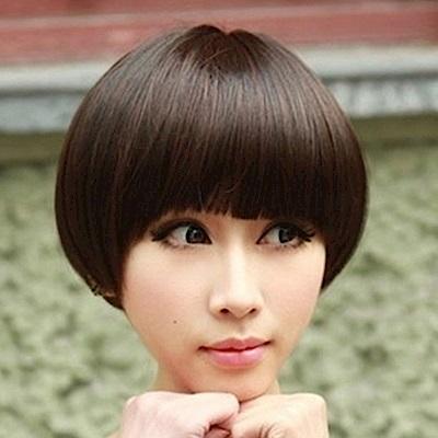 米蘭精品 女假髮整頂短假髮-可愛蘑菇頭時尚女美髮用品3色69o64