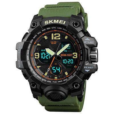 SKMEI 時刻美1327-雙機芯多功能防震防水電子錶(4色任選)
