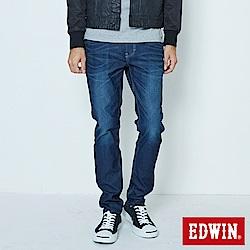 EDWIN 大尺碼AB褲 迦績JERSEYS仿紅布邊繡花牛仔褲-男-原藍磨