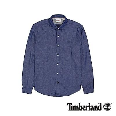 Timberland  男款靛藍色長袖MUMFORD RIVER素色襯衫