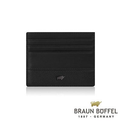 BRAUN BUFFEL - 邦尼系列7卡單層卡夾 - 幻影黑