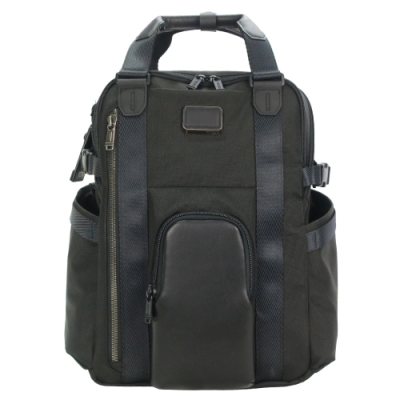 TUMI ALPHA BRAVO KINGS簡約前口袋後背包(適用15吋筆電)-黑