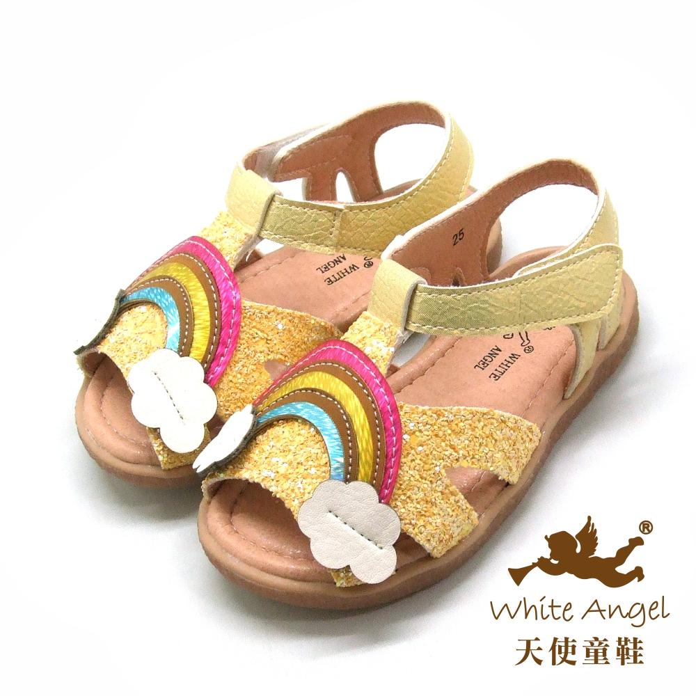 天使童鞋 繽紛奇幻彩虹涼鞋(小童)i929-黃