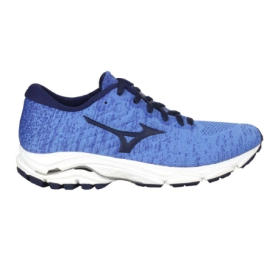 MIZUNO WAVE INSPIRE 16 WAVEKNIT 女慢跑鞋-美津濃 J1GD201325 天藍深藍