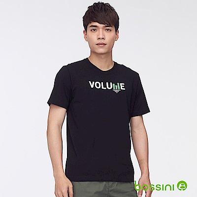 bossini男裝-印花短袖T恤36黑