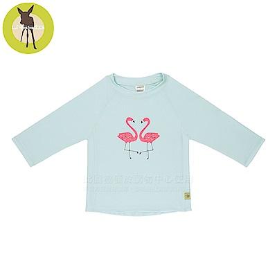 嬰幼兒抗UV長袖泳裝上衣-火紅鶴