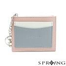 SPRING-春日卡片零錢包-粉x灰