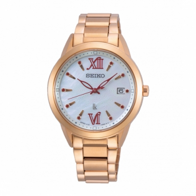 SEIKO LUKIA優雅時尚限量款太陽能腕錶V147-0CL0K/SUT392J1