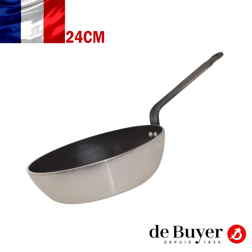 法國de Buyer畢耶 CHOC系列-5層平底單柄不沾深炒鍋24cm