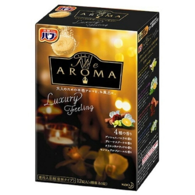 日本品牌 花王KAO AROMA四合一碳酸入浴劑-Luxury Feeling