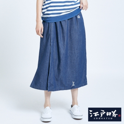EDO KATSU江戶勝 日式禪風牛仔褲裙-女-中古藍