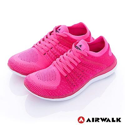 【AIRWALK】編織慢跑鞋-女款-桃紅
